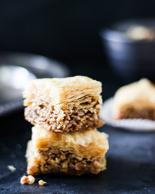 Baklava Favor Box Gold Ribbon Gourmet