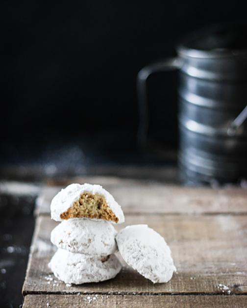 Butter Almond Cookies KourambiedesGold Ribbon Gourmet